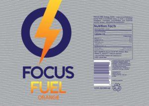 focus fuel sticker orange