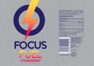 focus fuel sticker strawberry